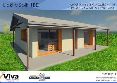 1 Bedroom Strawbale House Plan