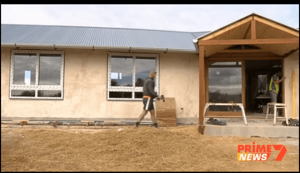 7Prime TV News story on Katy & Nik's Straw Bale Home